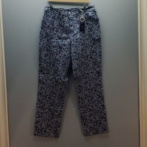 NWT Charter Club Floral Jeans